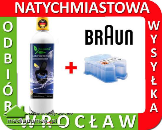 Biopretta 1000ml + BRAUN CCR1 170ml CLEAN & RENEW