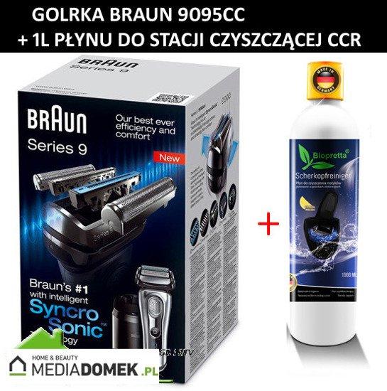 Golarka Braun Series 9 9095cc Wet&Dry + 1 Litr Biopretta CCR Stacja czyszcząco-ładująca