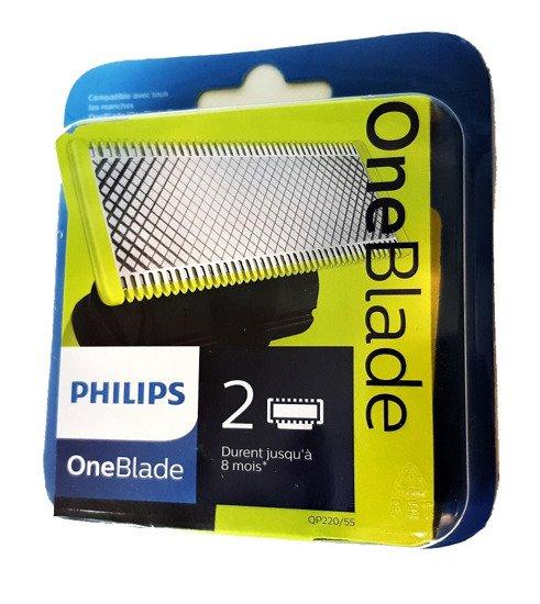 PHILIPS QP220/55 OneBlade  2 wymienne ostrza