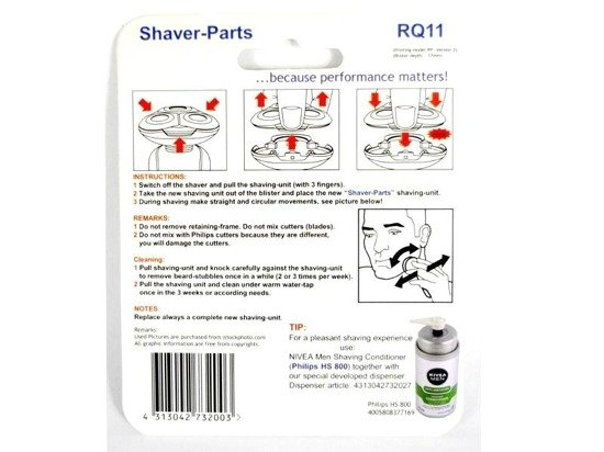 Shaver-Parts RQ11 do golarek Philips RQ11