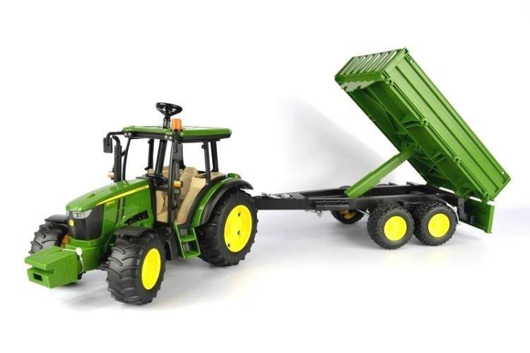 Bruder 02108 traktor John Deere 5115M z przyczepą