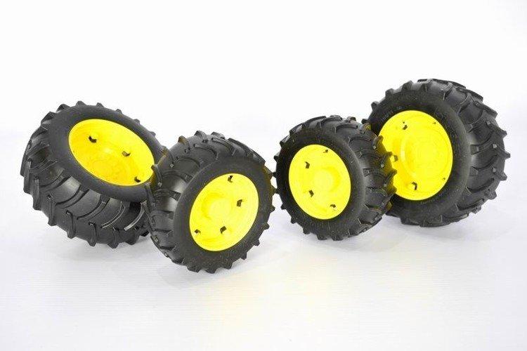 Bruder 02321 koła bliźniaki żółte John Deere 02000