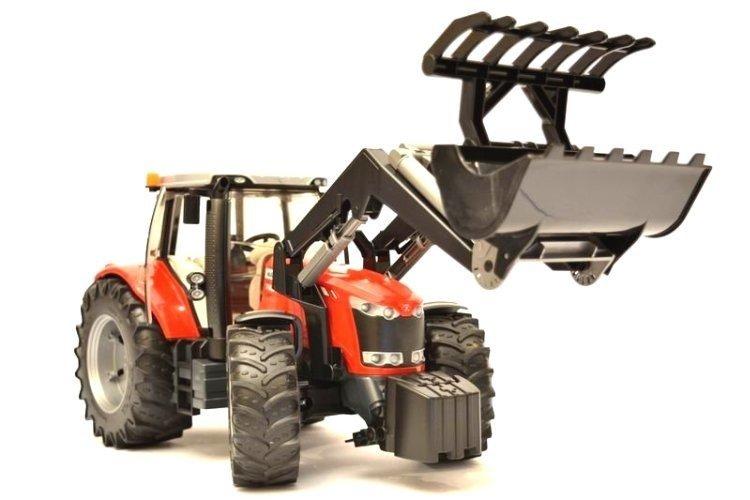 Bruder 03047 Traktor Massey Ferguson z ładowaczem