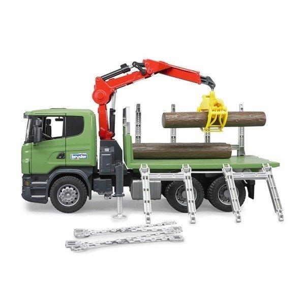 Bruder 03524 Scania ciężarówka do drzewa żuraw bele