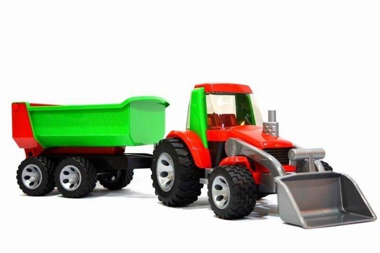 Bruder 20116 Traktor z przyczepą+ładowarka Roadmax