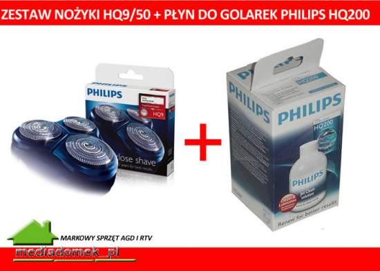Philips Głowice golące HQ9 / 50 + Płyn HQ200 HQ 200 WROCLAW 3szt.