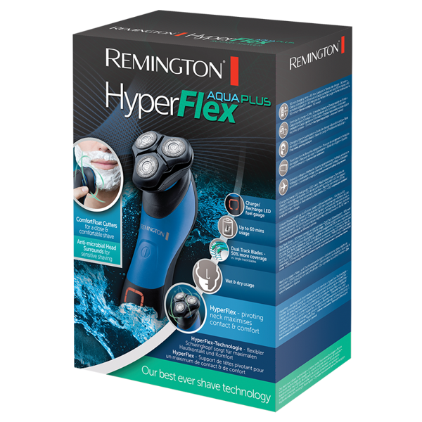 Remington  XR1450 Golarka rotacyjna HyperFlex Aqua Plus/Satysfakcja gwarantowana albo zwrot pieniędzy!