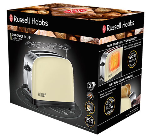 Russell Hobbs 23334-56 TOSTER CLASSIC CREAM