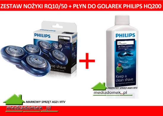 Zestaw Philips RQ 10 /50 + płyn HQ200 HQ 200 Element golący Ostrza do golarek Philips Artitec Seria RQ WROCLAW
