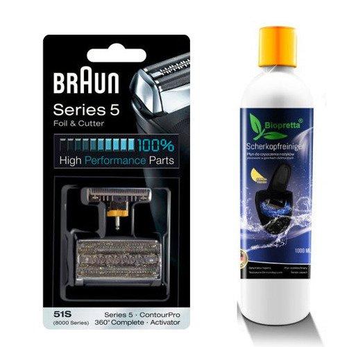 Zestaw folia + nóż Braun 51s+1 litr Biopretta CCR