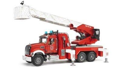 Bruder 02821 Mack straż pożarna drabina woda duża